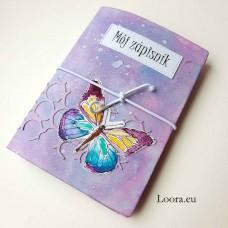 Zápisník Fialový motýľ A6