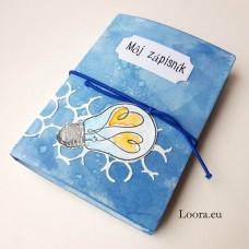 Zápisník Modrá žiarovka A6