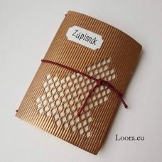 Zápisník Zlatý vlnitý A6