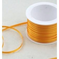 Saténová stuha 3 mm Žltá tmavá