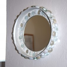 Zrkadlo mozaika Biela