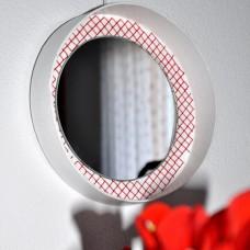 Kruhové zrkadlo Vyšívané
