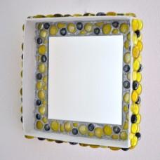 Štvorcové zrkadlo Žltá mozaika