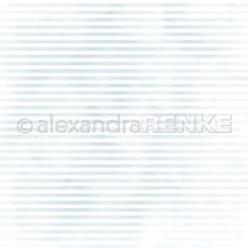 Vzorovaný papier A.Renke Modré akvarelové pásiky