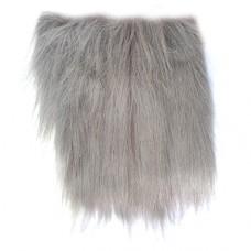 Plyšové dekoračné vlasy - dlhé Sivá