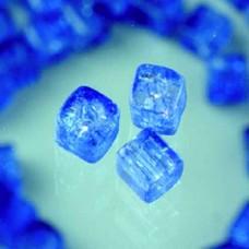 Sklenené korálky, popraskané kocky Modrá