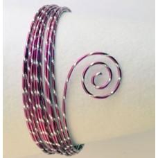 Drôt s diamantovým efektom Ružová sýta