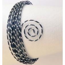 Drôt s diamantovým efektom Čierna