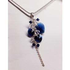 Náhrdelník kryštálik Modrý