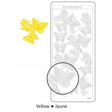 Samolepka Motýle Žltá