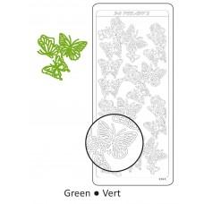 Samolepka Motýle Zelená