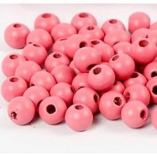 Drevené korálky Ružová svetlá 6 mm
