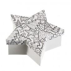 Papierová krabica s vymaľovankou Hviezda veľká