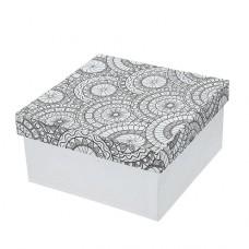 Papierová krabica s vymaľovankou Štvorec veľký
