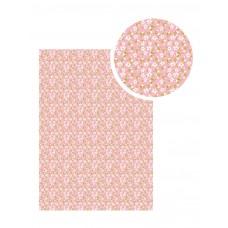 Samolepiaca látka Ružová s bielymi kvetinkami