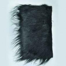 Plyšové dekoračné vlasy - dlhé Čierna