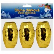 Darčeková stuha plast Zlatá lesklá