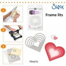 Sizzix Framelits vyrezávacia šablóna Srdce