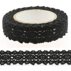 Lepiaca čipka Čierna