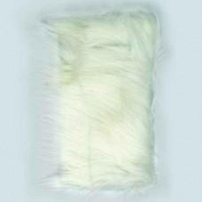 Plyšové dekoračné vlasy - dlhé Biela