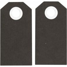 Etikety na darčeky Čierna