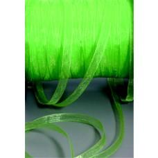 Šnúrka z organzy Zelená