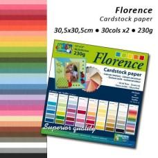 Štruktúrovaný papier Florence - 60 ks/ 30 odtieňov