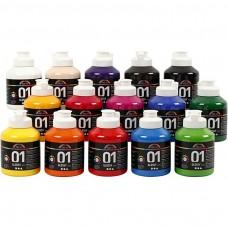 Akrylová farba Sada 15 farieb