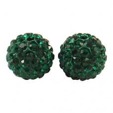 Shamballa koralky Zelená tmavá / Smaragd
