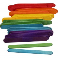 Drevené nanukové paličky Farebné 9 cm / 50 ks