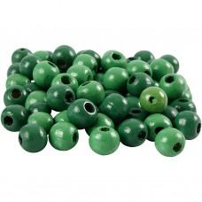 Drevené korálky Zelená 6 mm