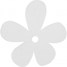 Drevený Kvet Biela 5 cm