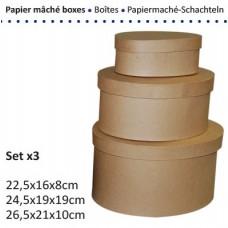 Papierová krabica Ovál Veľký 10 veľkostí
