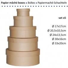 Papierová krabica Kruh Veľká 13 veľkostí