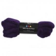 Vlna na plstenie Merino Purple / Fialová tmavá