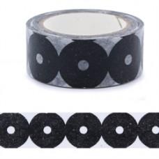 Lepiaca páska Washi Čierne kruhy