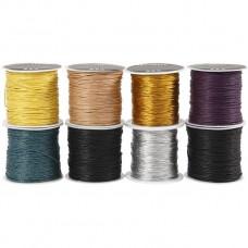 Bavlnená voskovaná šnúrka 8 farieb / 40 m