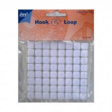 Suchý zips Joy!Crafts Biely 10x10 mm