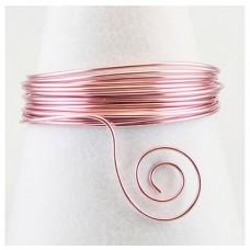Hliníkový drôt Ružová svetlá - Priemer Ø1 - Ø3 mm