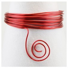 Hliníkový drôt Červená - Priemer Ø1 - Ø5 mm