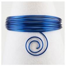 Hliníkový drôt Modrá kráľovská - Priemer Ø1 - Ø4 mm