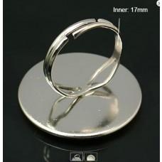 Komponent prsteň s lôžkom Strieborná 25 mm