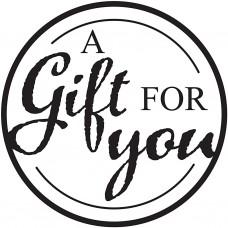 Drevená pečiatka A gift for you