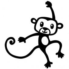 Penová pečiatka Opica