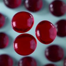 Okrúhle sklenené kamene Červená