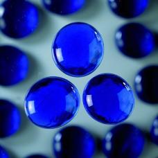 Okrúhle sklenené kamene Modrá