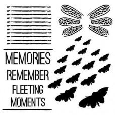 Šablóna Motýle a text