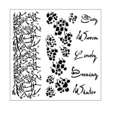 Šablóna texty a kvety