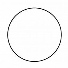 Drôtený kruh na Lapač snov Čierna 25 cm