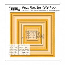 Crealies vyrezávacia šablóna Štvorce s vnútorným prešívaním N°22